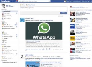 Facebook Newsfeed - hier sehen die Nutzer Meldungen ihrer Fan-Seiten und Freunde.