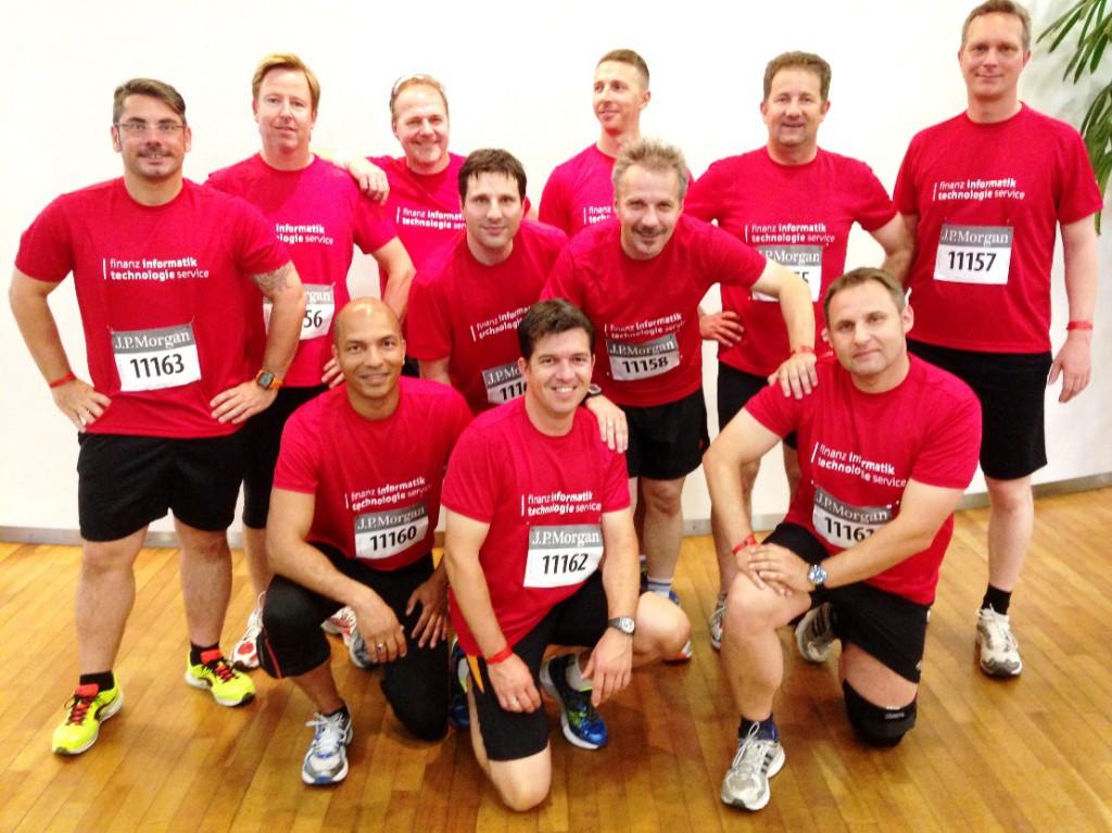 Sportlich unterwegs - FI-TS Kollegen auf dem J.P. Morgan Corporate Challenge Lauf