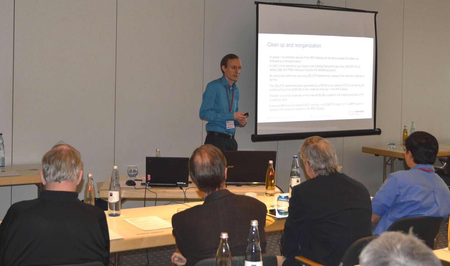 Robert Recknagel referiert beim IMS Symposium 2016