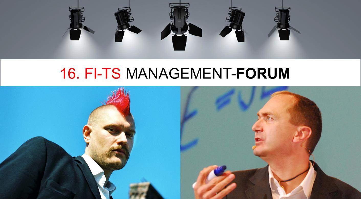 Wir freuen uns auf Sascha Lobo und Otmar Kastner auf dem 16. FI-TS Management-Forum.
